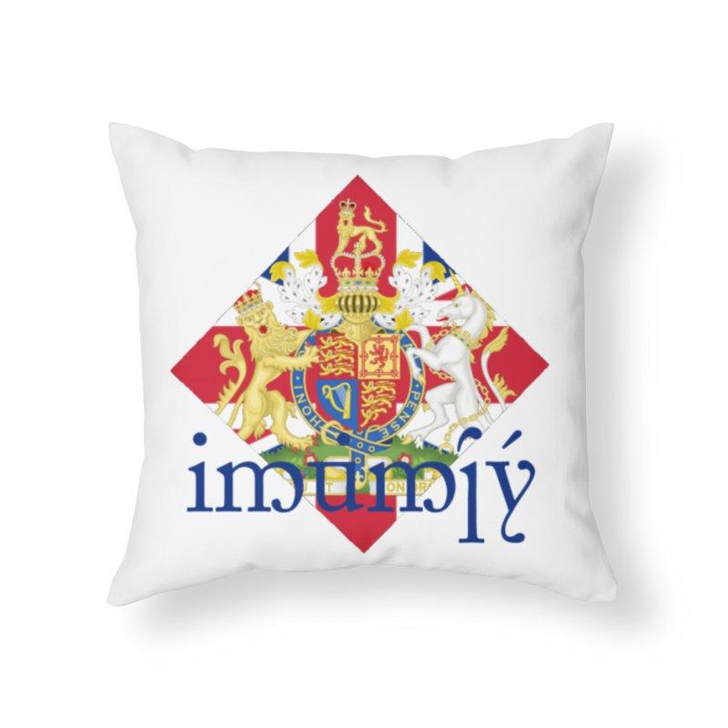 England Elvish Heraldry in Throw Pillow by Q101 Shop
