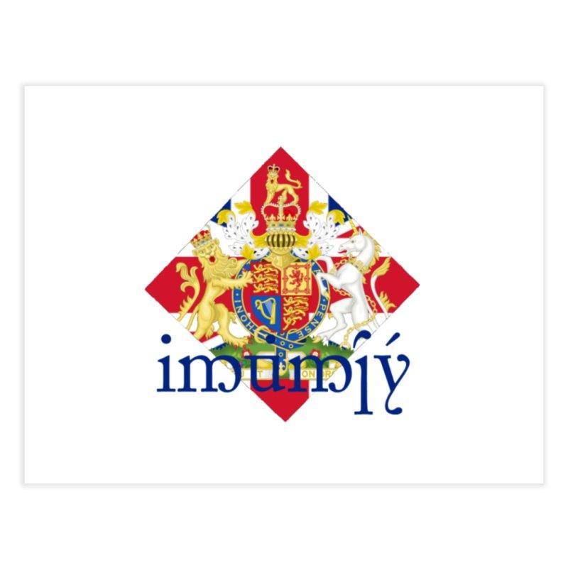 England Elvish Heraldry Home Fine Art Print by Q101 Shop