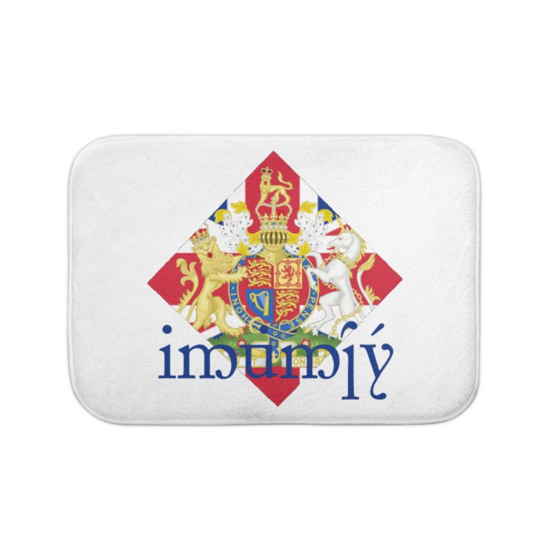 England Elvish Heraldry Home Bath Mat by Q101 Shop
