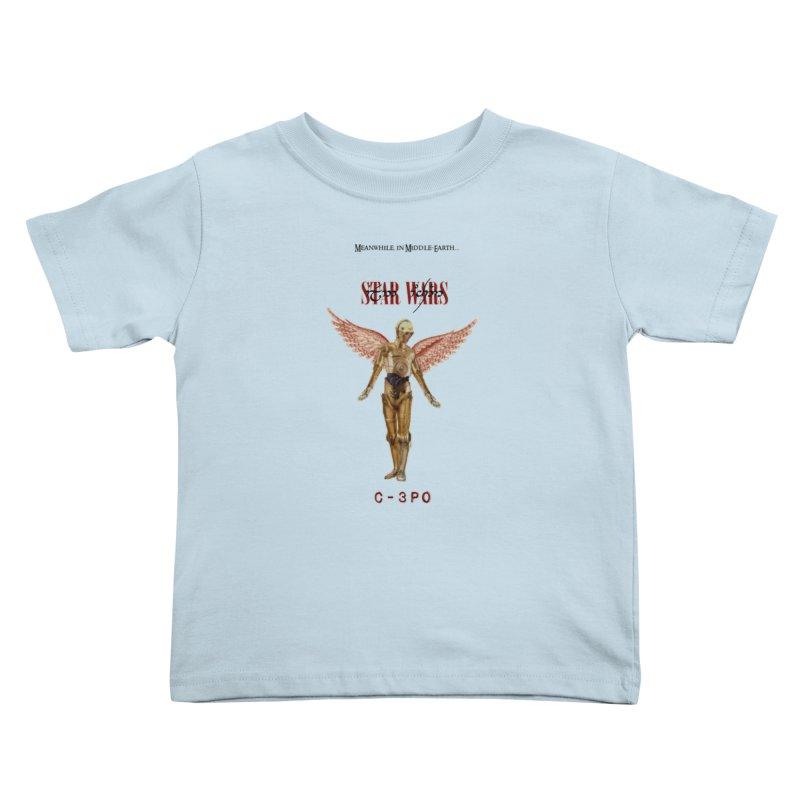 C3PO in Utero Kids Toddler T-Shirt by Q101 Shop