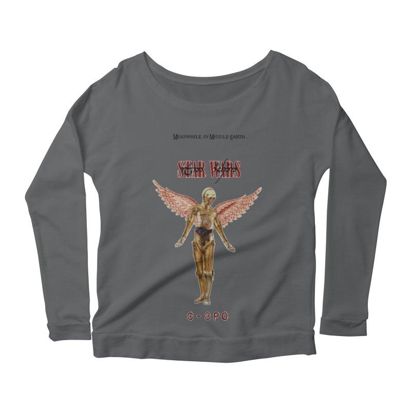 C3PO in Utero Women's Scoop Neck Longsleeve T-Shirt by Q101 Shop