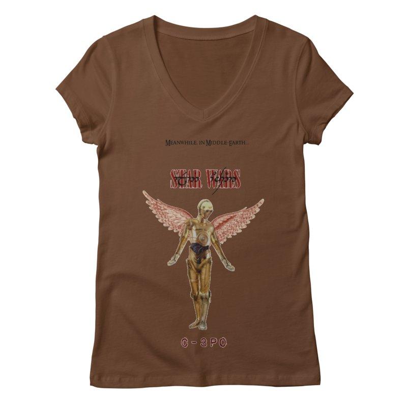 C3PO in Utero Women's Regular V-Neck by Q101 Shop