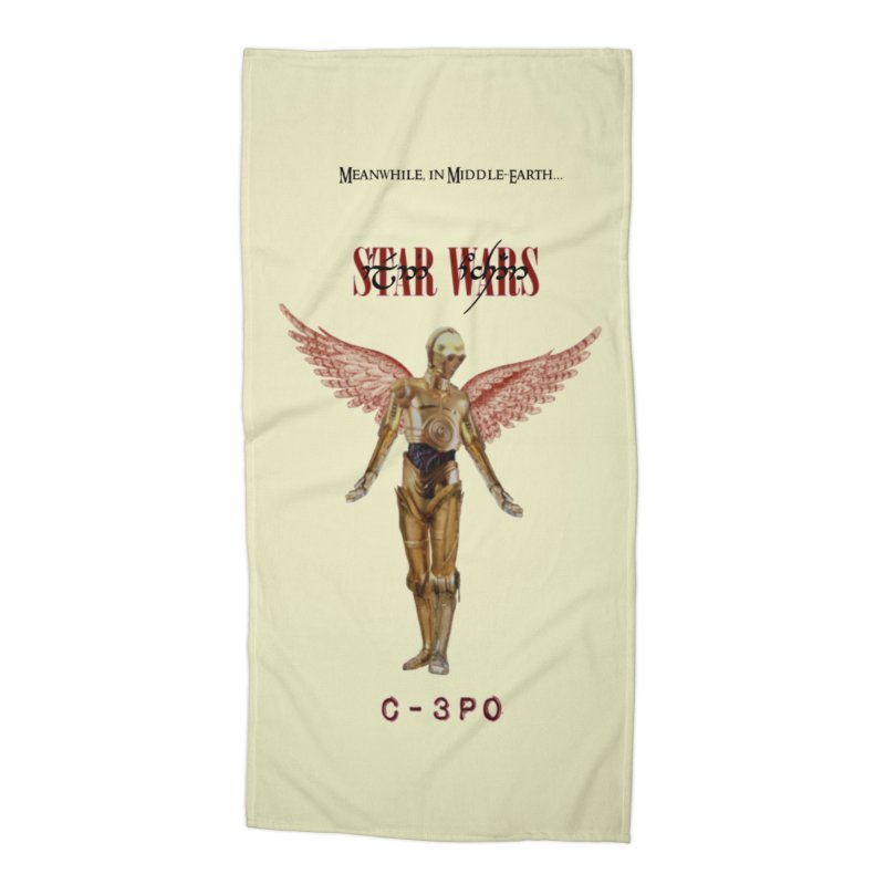 C3PO in Utero Accessories Beach Towel by Q101 Shop