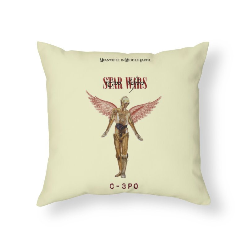 C3PO in Utero Home Throw Pillow by Q101 Shop