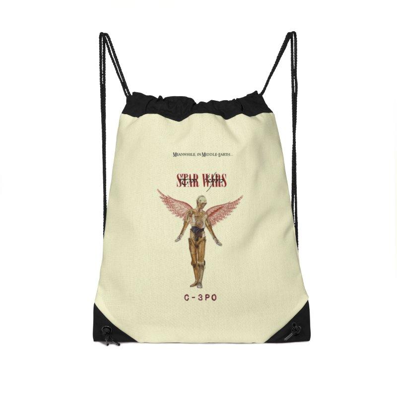 C3PO in Utero Accessories Drawstring Bag Bag by Q101 Shop