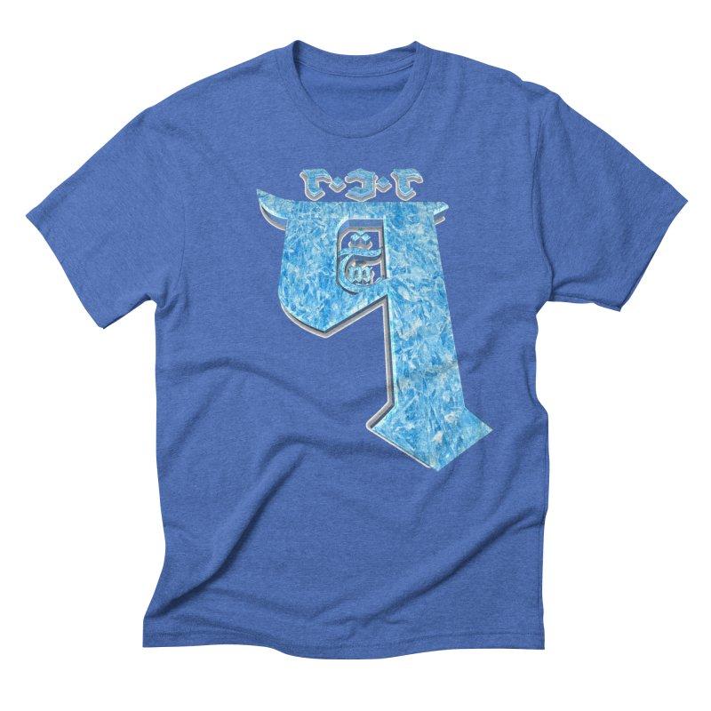 Q101 Hrívë 2.0 in Men's Triblend T-Shirt Blue Triblend by Q101 Shop