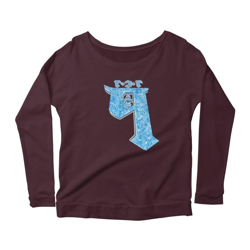 Q101 Hrívë 2.0 Women's Scoop Neck Longsleeve T-Shirt by Q101 Shop