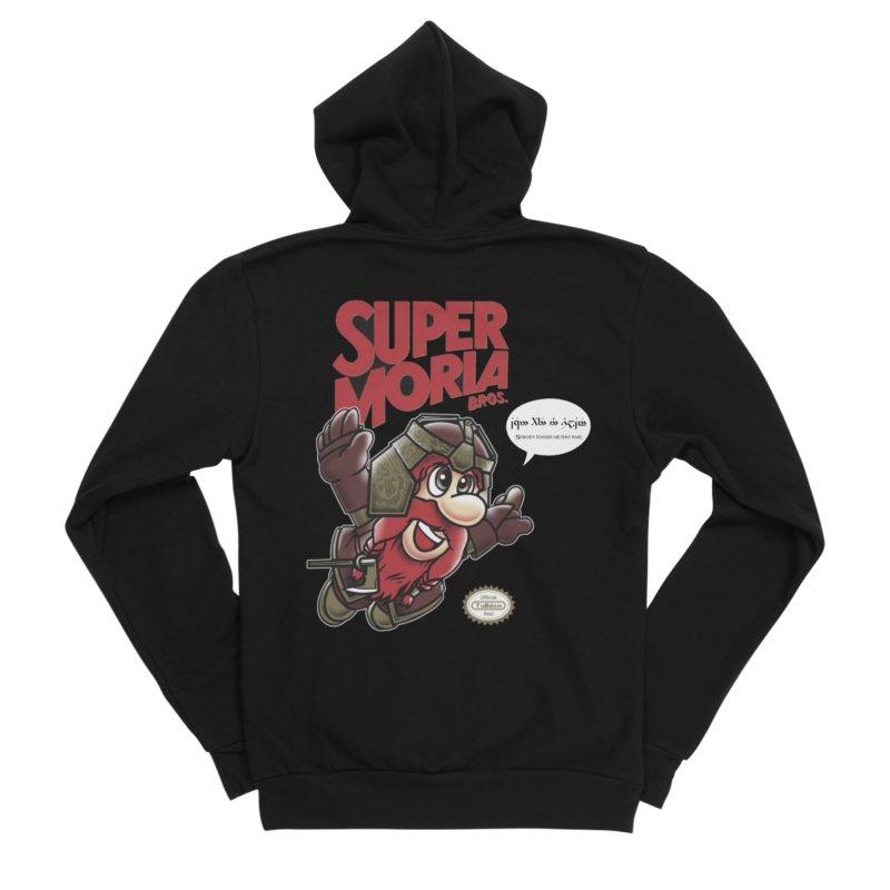 Super Moria Bros Women's Sponge Fleece Zip-Up Hoody by Q101 Shop