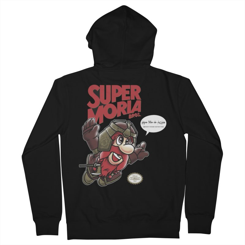 Super Moria Bros Men's French Terry Zip-Up Hoody by Q101 Shop