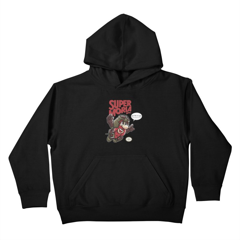 Super Moria Bros Kids Pullover Hoody by Q101 Shop