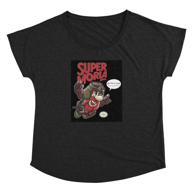 Super Moria Bros Women's Dolman Scoop Neck by Q101 Shop