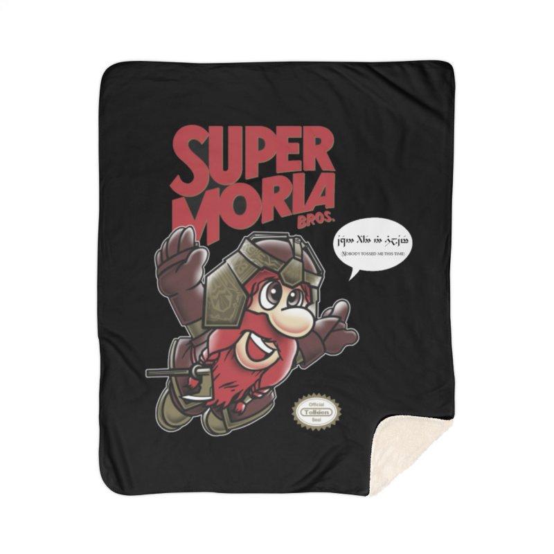 Super Moria Bros Home Sherpa Blanket Blanket by Q101 Shop