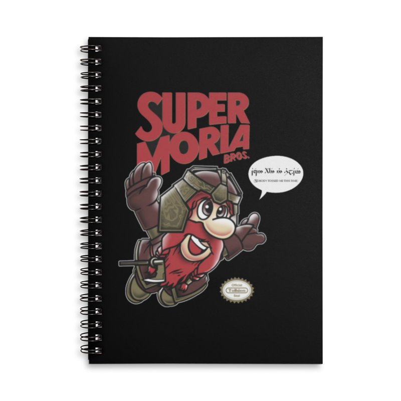 Super Moria Bros Accessories Lined Spiral Notebook by Q101 Shop