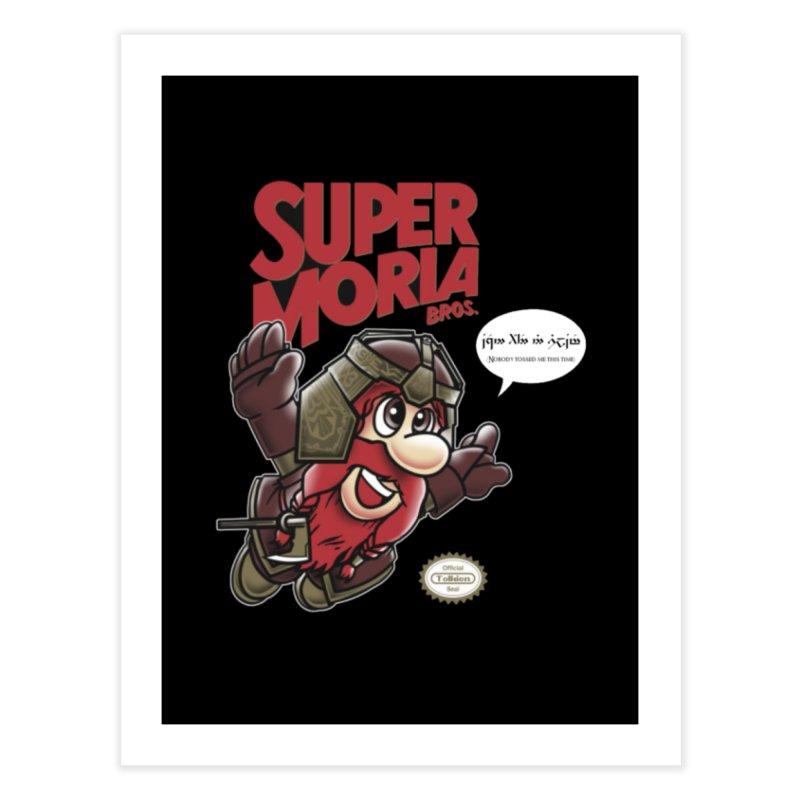 Super Moria Bros Home Fine Art Print by Q101 Shop