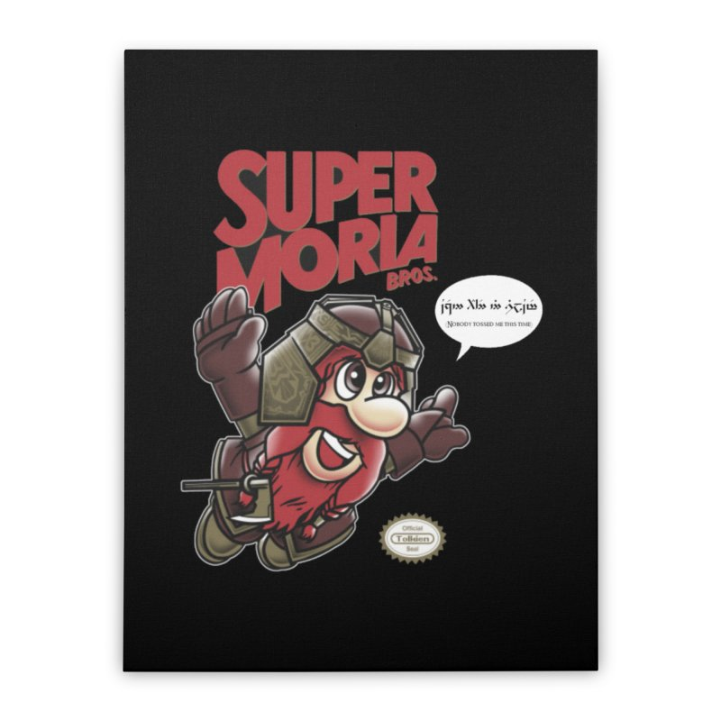 Super Moria Bros Home Stretched Canvas by Q101 Shop