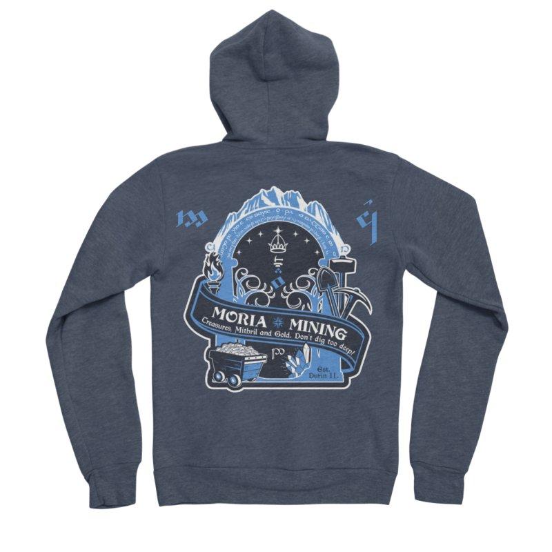 Moria Mining Men's Sponge Fleece Zip-Up Hoody by Q101 Shop