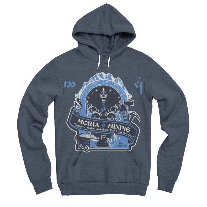 Moria Mining Men's Sponge Fleece Pullover Hoody by Q101 Shop