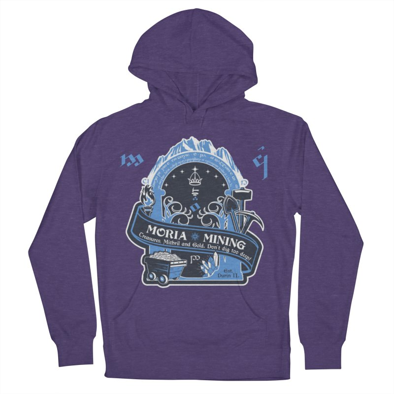 Moria Mining Women's French Terry Pullover Hoody by Q101 Shop