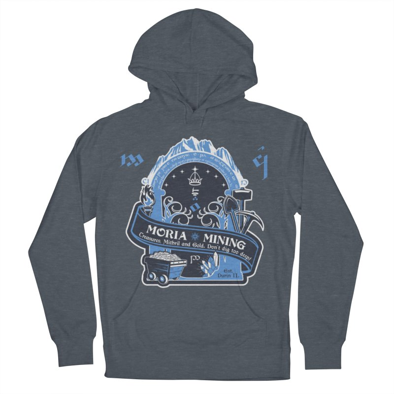 Moria Mining Men's French Terry Pullover Hoody by Q101 Shop
