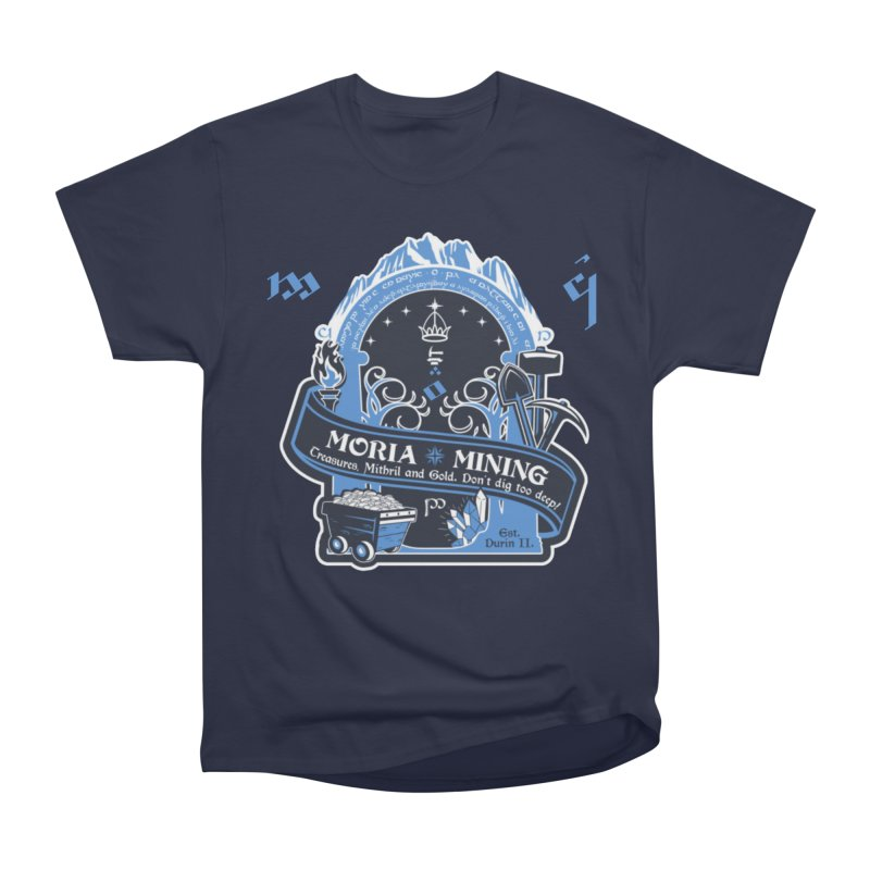 Moria Mining Men's Heavyweight T-Shirt by Q101 Shop