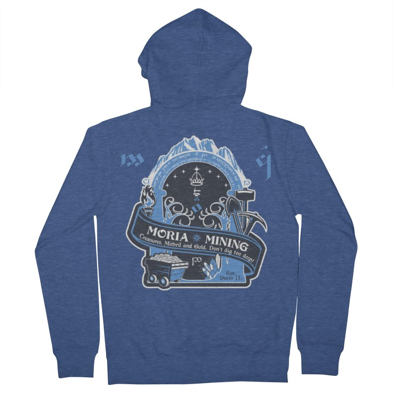Moria Mining Women's French Terry Zip-Up Hoody by Q101 Shop