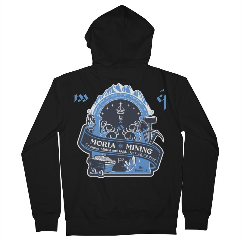 Moria Mining Men's French Terry Zip-Up Hoody by Q101 Shop