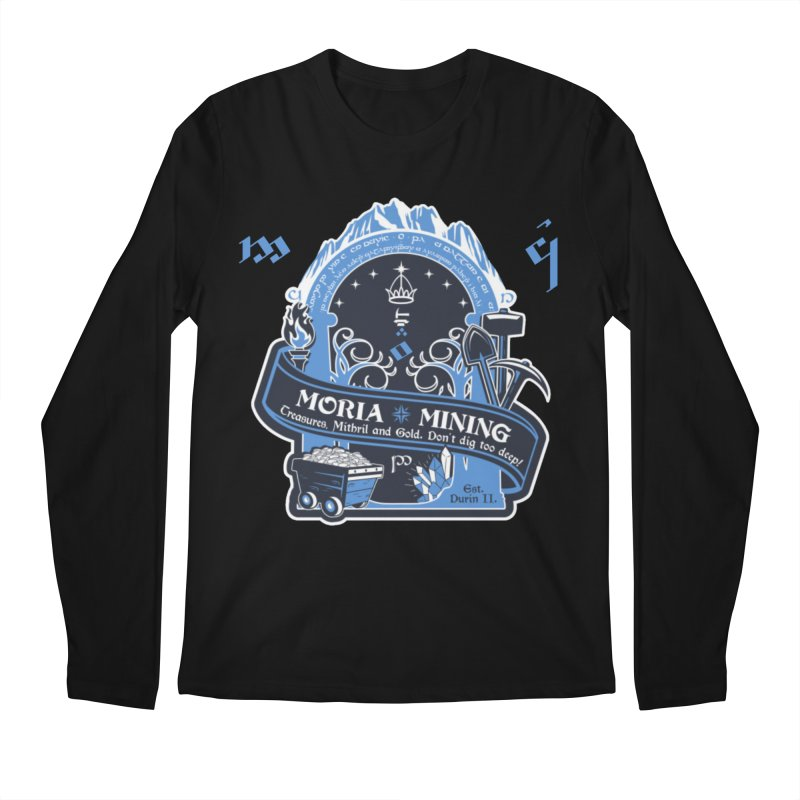Moria Mining Men's Regular Longsleeve T-Shirt by Q101 Shop