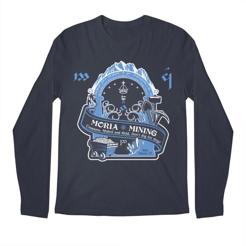 Moria Mining Men's Regular Longsleeve T-Shirt by Q101 Shop