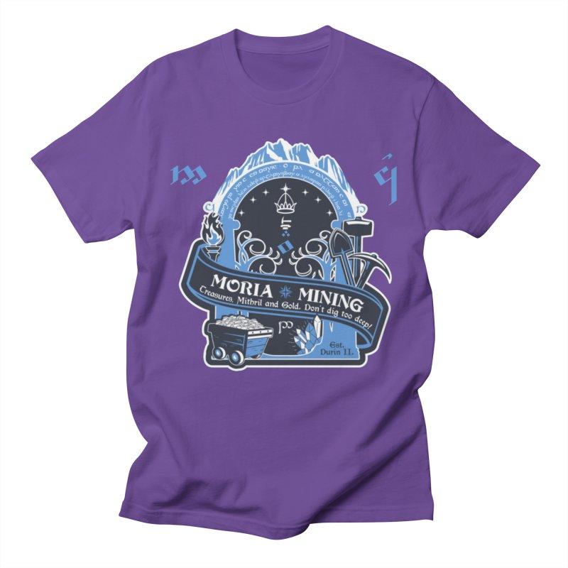 Moria Mining Men's Regular T-Shirt by Q101 Shop