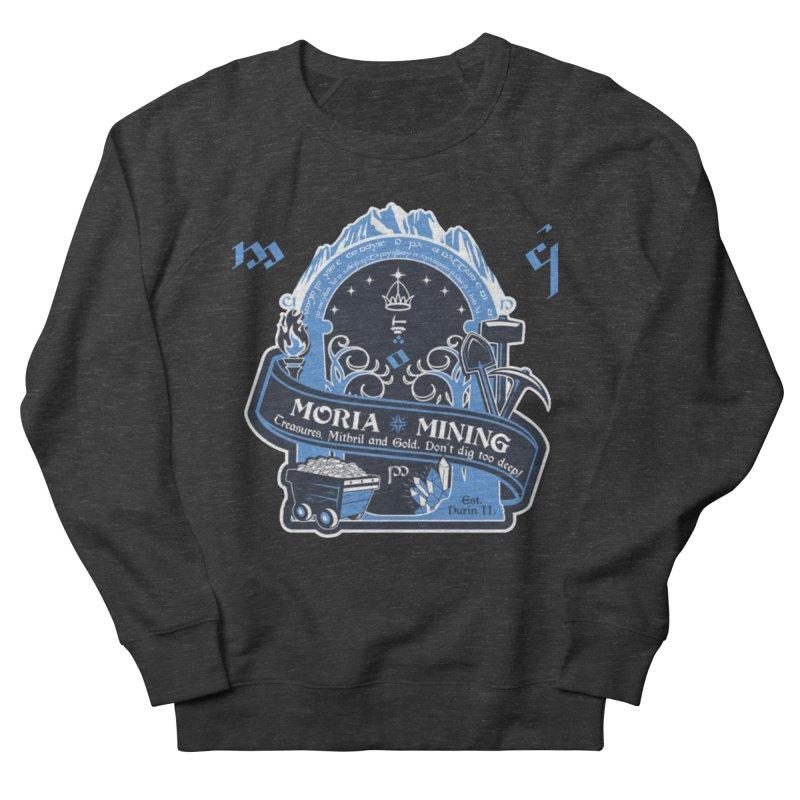 Moria Mining Women's French Terry Sweatshirt by Q101 Shop