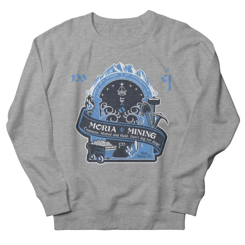 Moria Mining Men's French Terry Sweatshirt by Q101 Shop