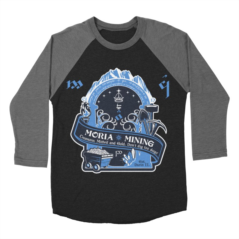 Moria Mining Men's Baseball Triblend Longsleeve T-Shirt by Q101 Shop