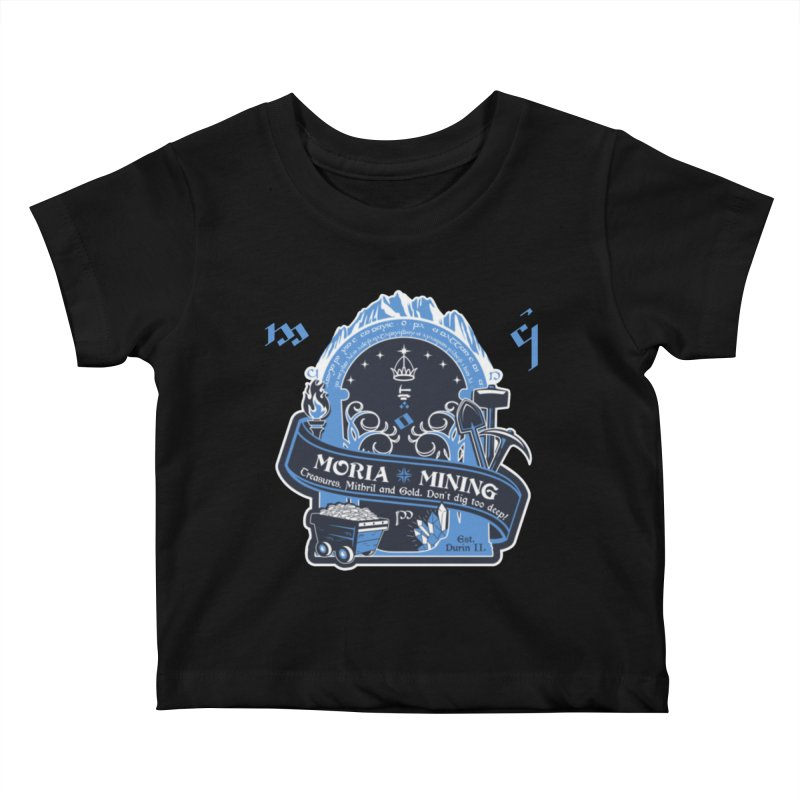 Moria Mining Kids Baby T-Shirt by Q101 Shop