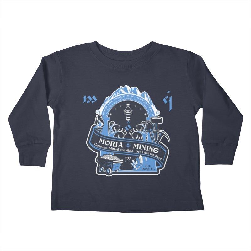 Moria Mining Kids Toddler Longsleeve T-Shirt by Q101 Shop