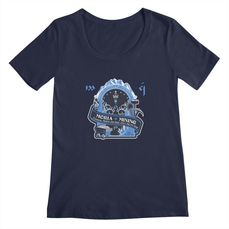 Moria Mining Women's Regular Scoop Neck by Q101 Shop