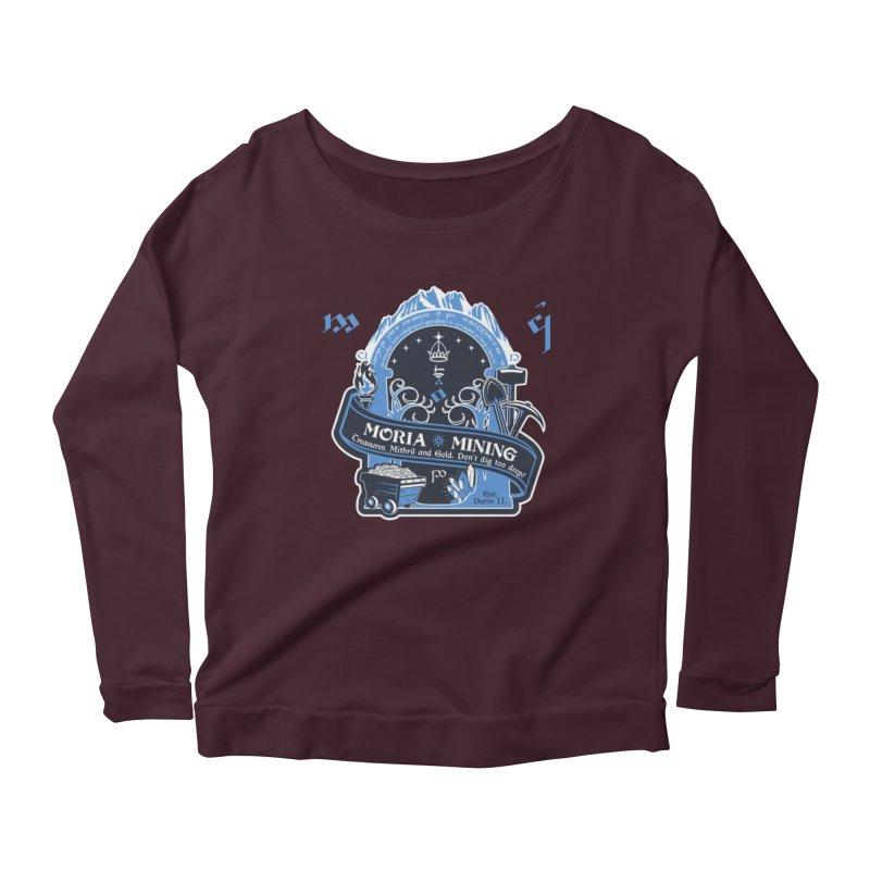 Moria Mining Women's Scoop Neck Longsleeve T-Shirt by Q101 Shop