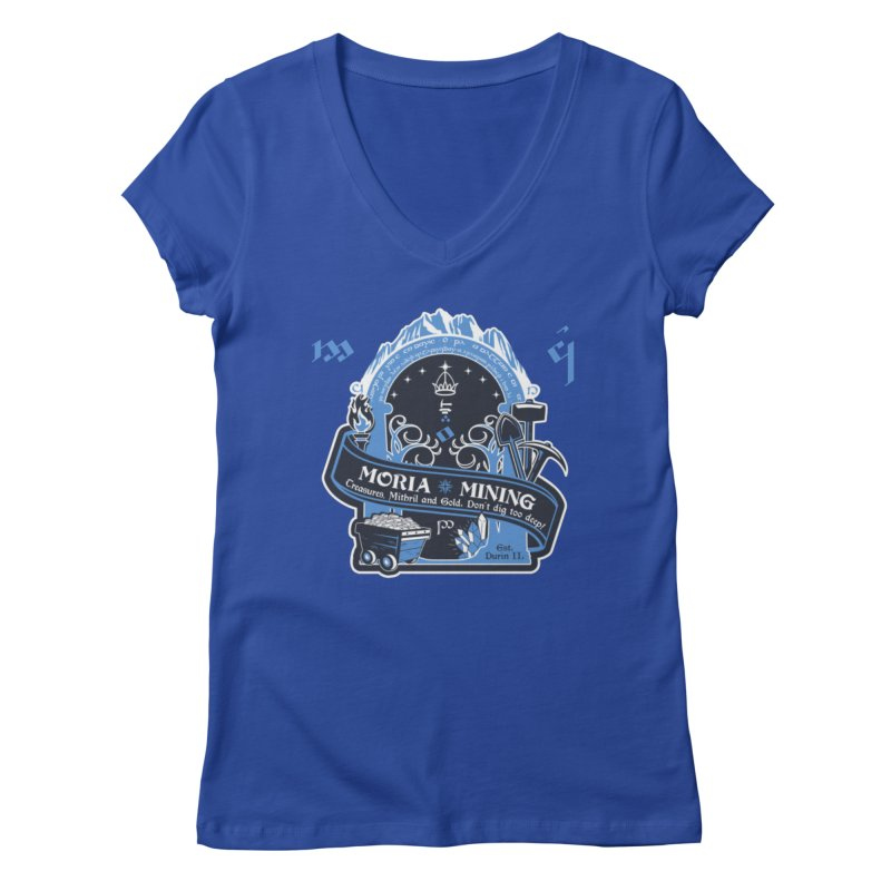Moria Mining Women's Regular V-Neck by Q101 Shop