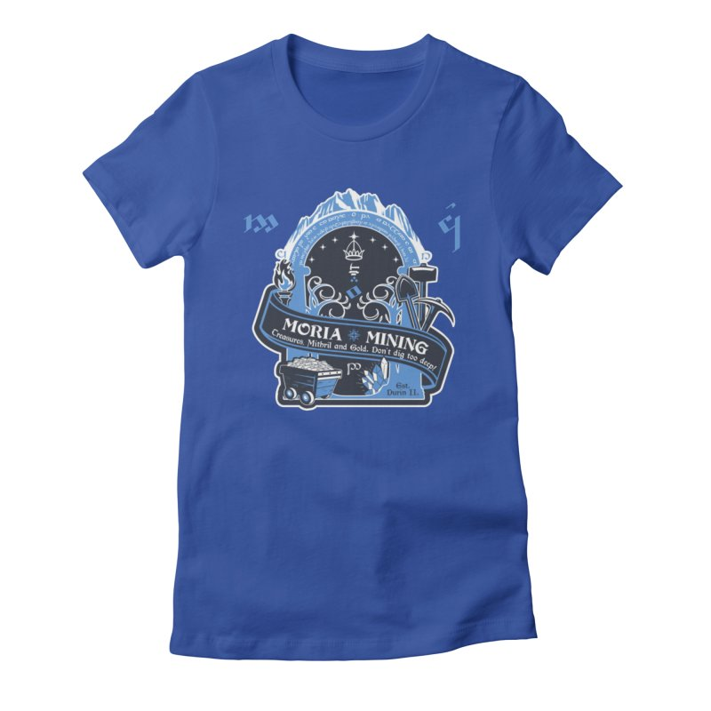 Moria Mining Women's Fitted T-Shirt by Q101 Shop