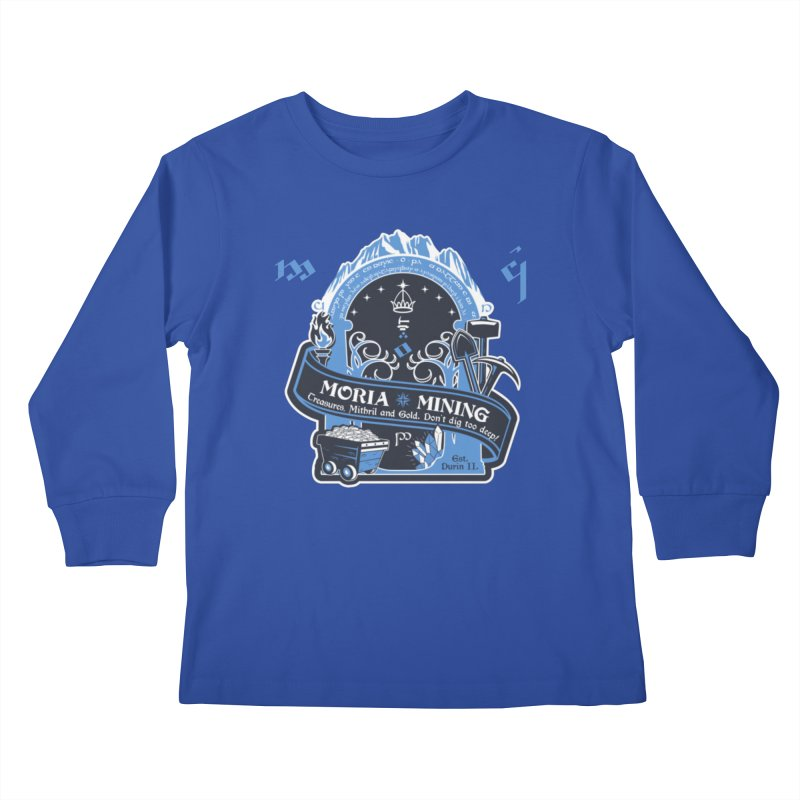 Moria Mining Kids Longsleeve T-Shirt by Q101 Shop