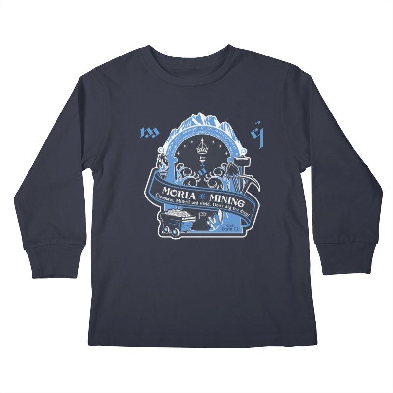 Moria Mining Kids Longsleeve T-Shirt by Q101 Shop