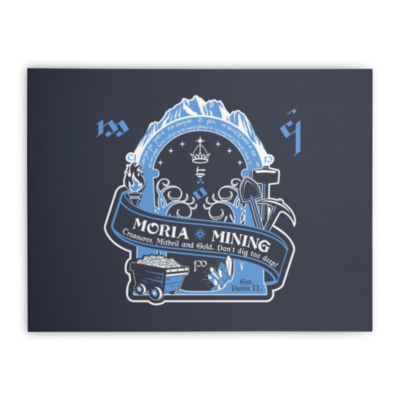 Moria Mining Home Stretched Canvas by Q101 Shop