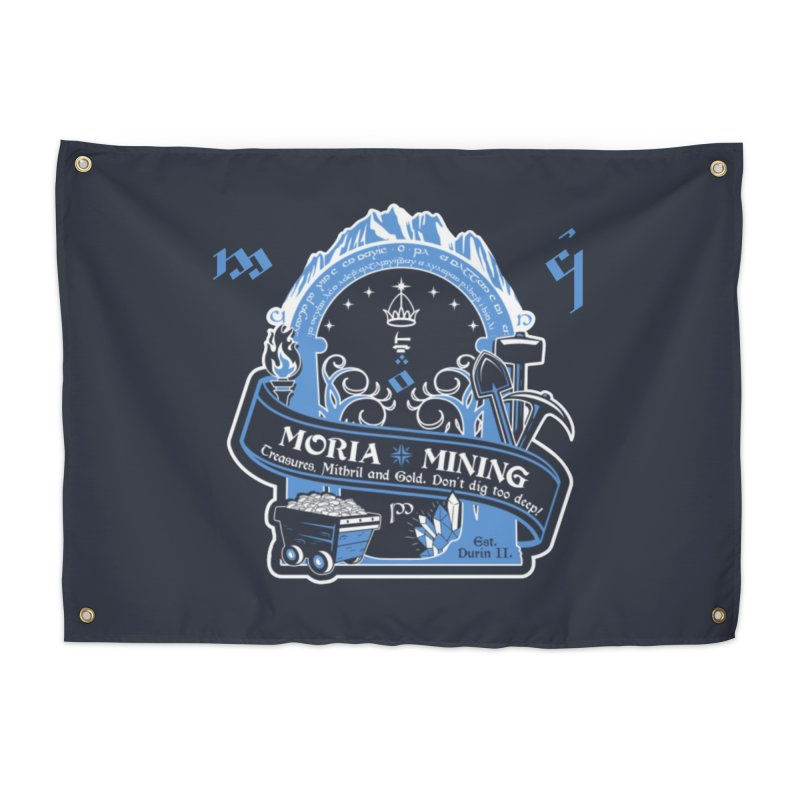 Moria Mining Home Tapestry by Q101 Shop