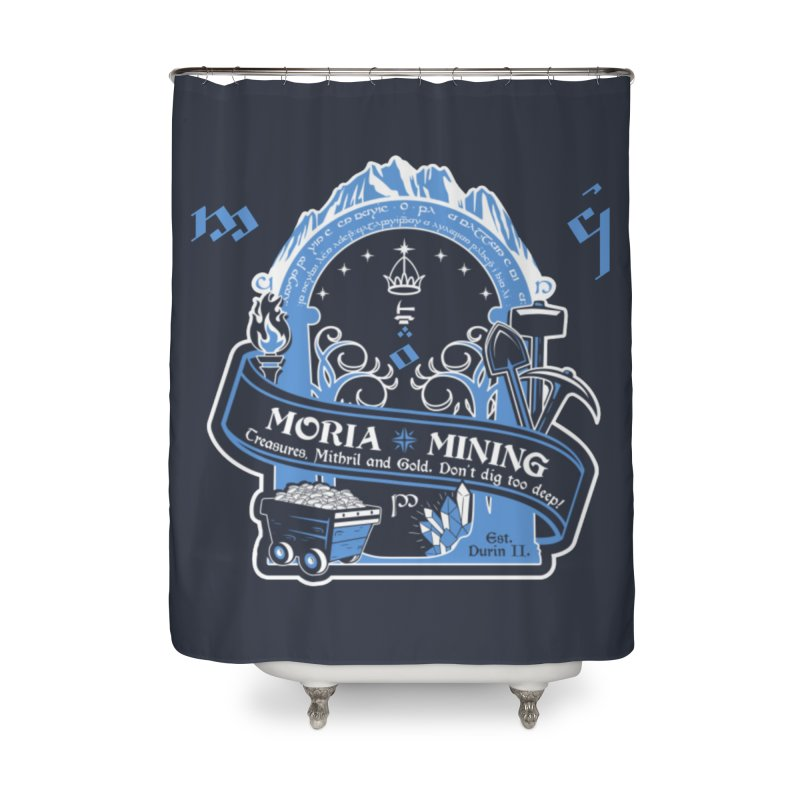 Moria Mining Home Shower Curtain by Q101 Shop