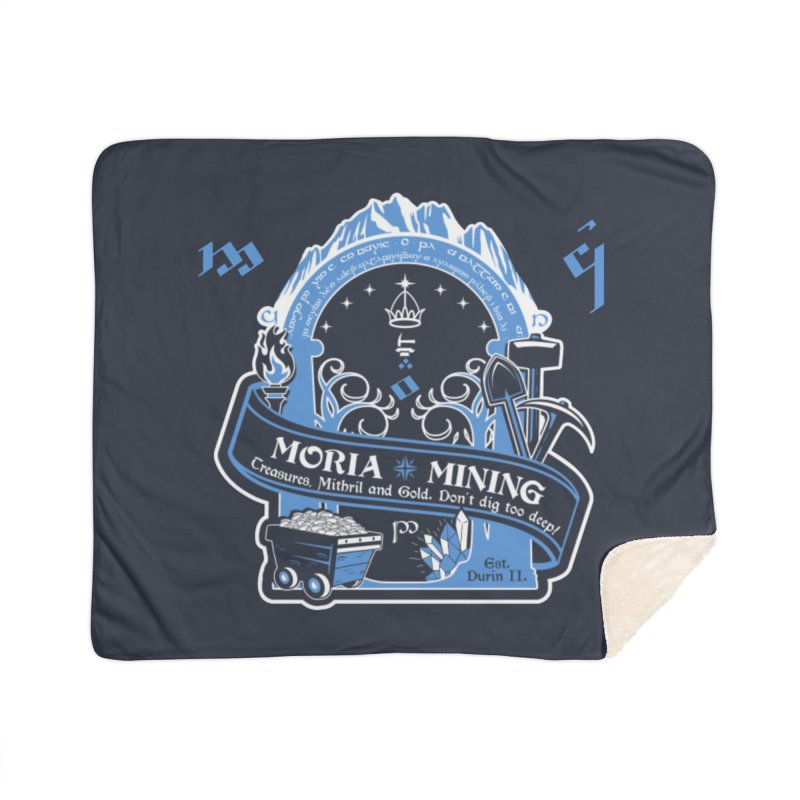 Moria Mining Home Sherpa Blanket Blanket by Q101 Shop
