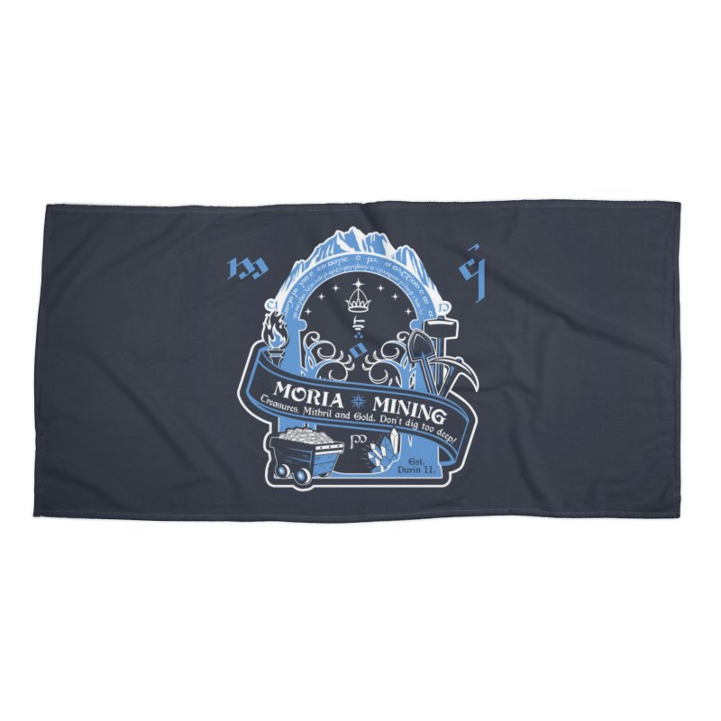Moria Mining Accessories Beach Towel by Q101 Shop