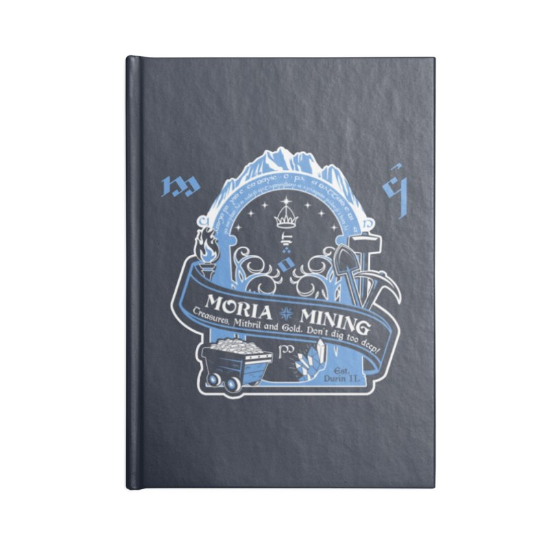 Moria Mining Accessories Lined Journal Notebook by Q101 Shop