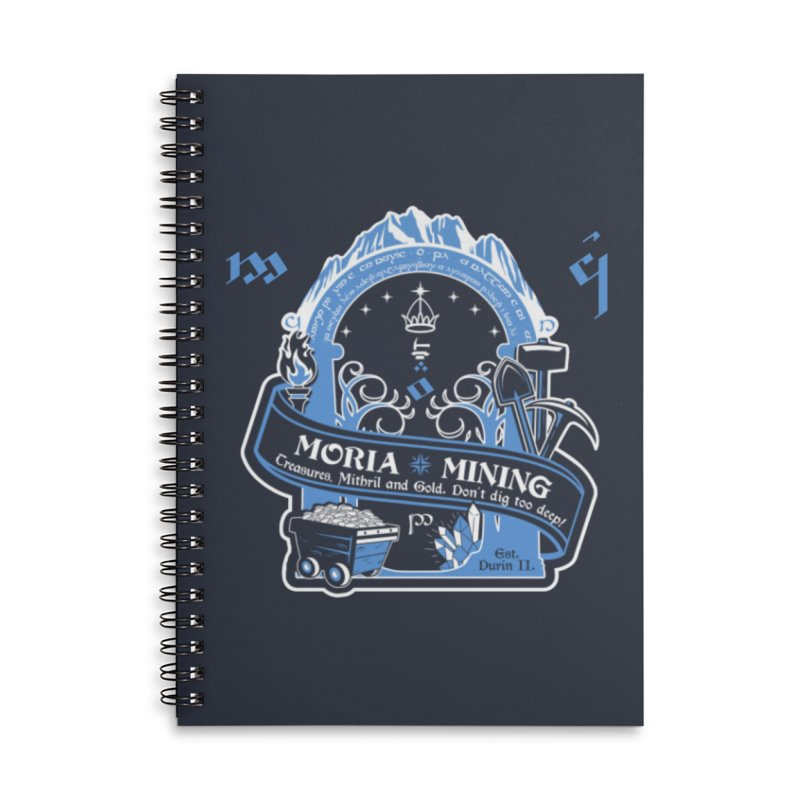 Moria Mining Accessories Lined Spiral Notebook by Q101 Shop