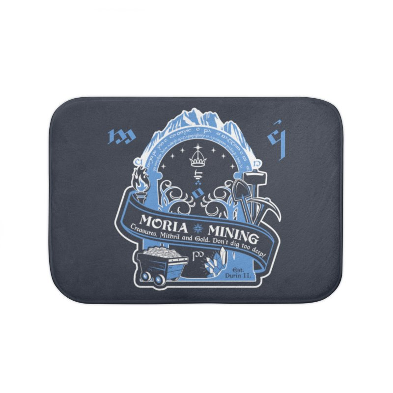 Moria Mining Home Bath Mat by Q101 Shop