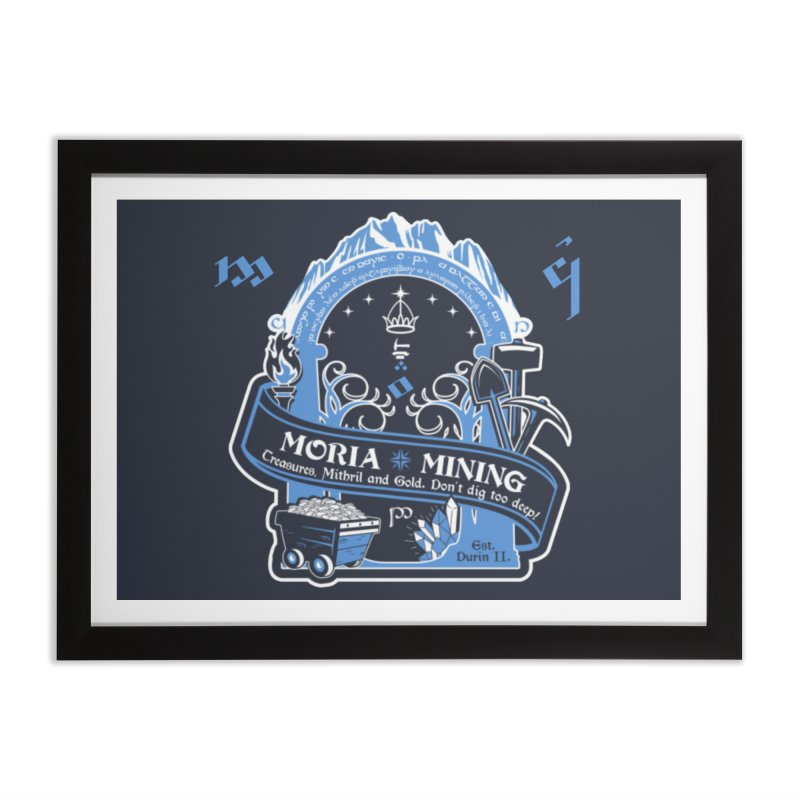 Moria Mining Home Framed Fine Art Print by Q101 Shop