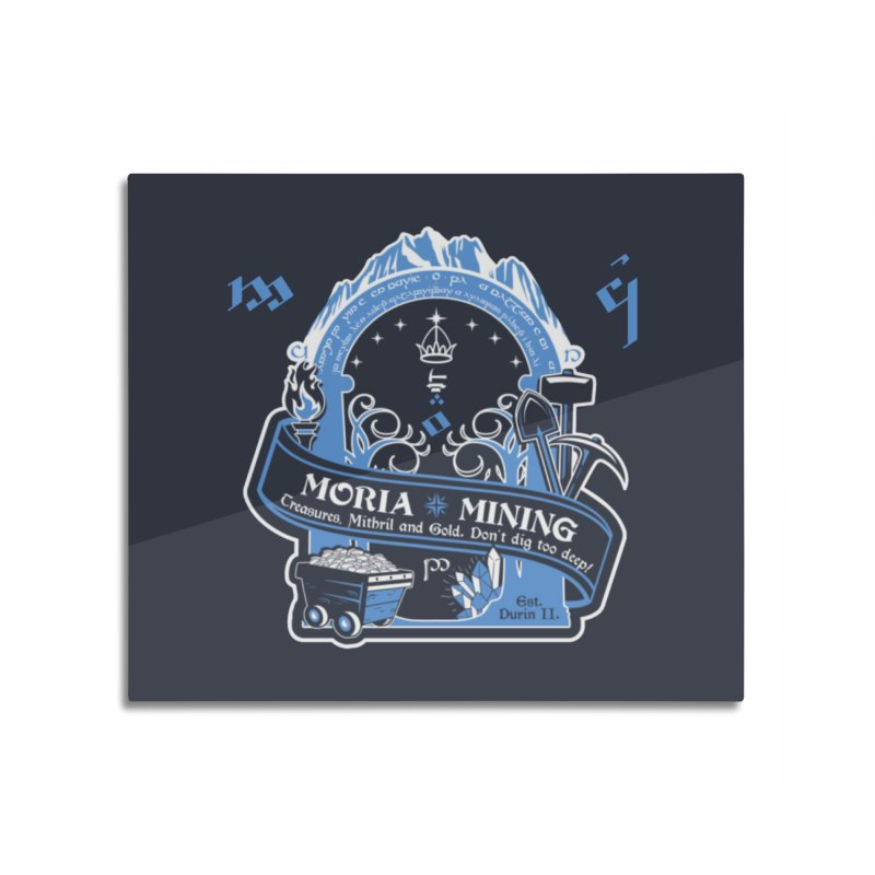 Moria Mining Home Mounted Aluminum Print by Q101 Shop